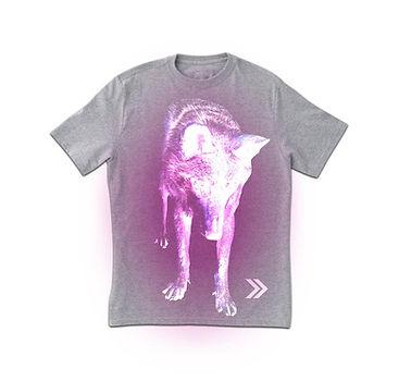 Neon Wolf Print T-shirt
