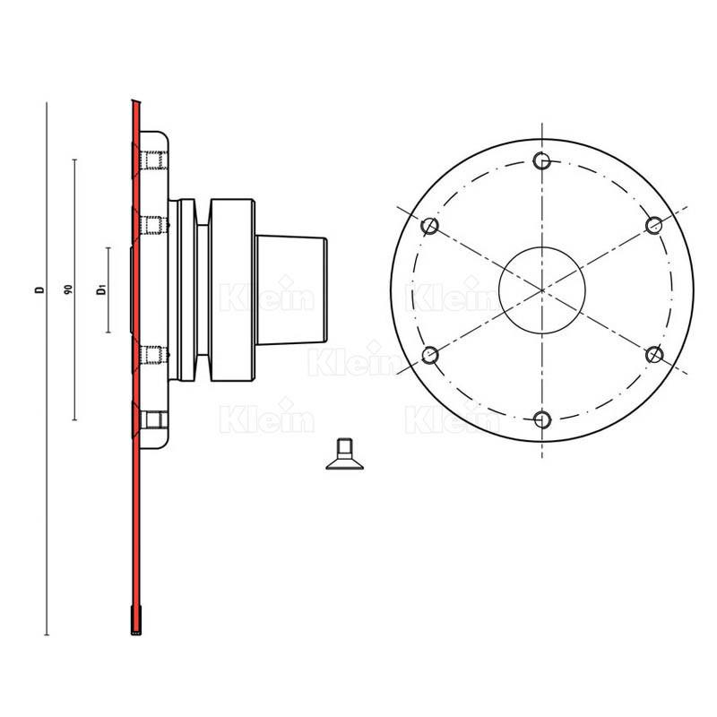 klein_adattatore-hsk63f-per-seghe-circol