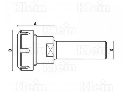 klein_portautensili-attacco-cilindrico-d
