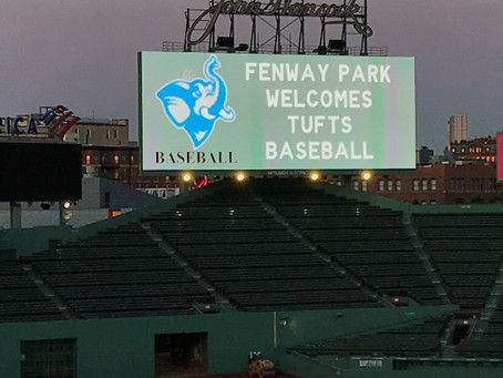 2020 Tufts Baseball First Pitch Reception