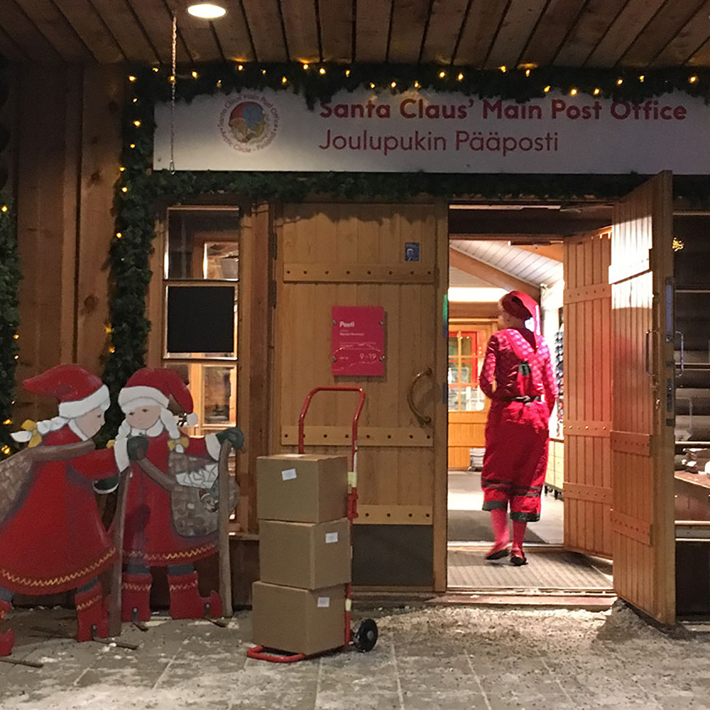 We got the elves from Santa Claus Post Office to help us with the book deliveries.