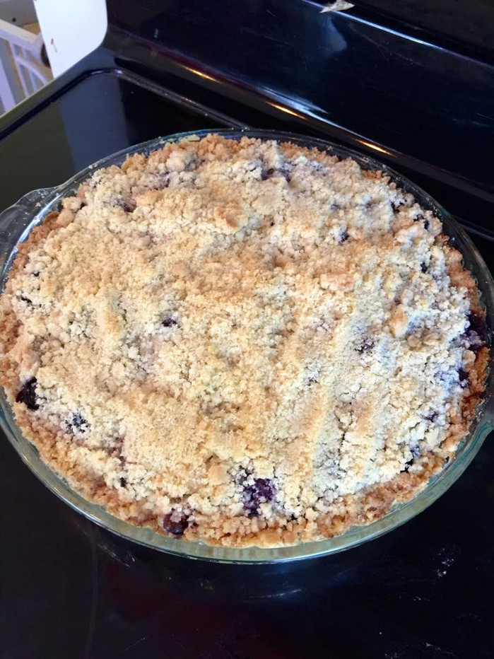 In which I present a delightful blueberry pie recipe that I presented previously. (Subtitle: 4th of