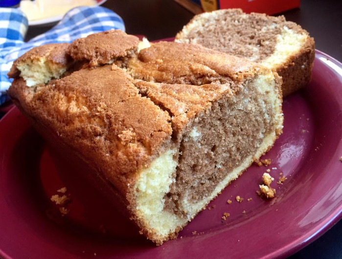 In which I bake another substandard marble cake and refrain from stabbing it repeatedly.