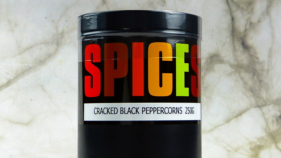 Cracked black peppercorns