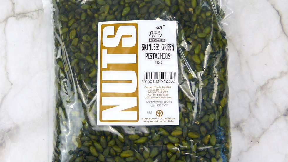 Skinless Green Pistachios (1kg)