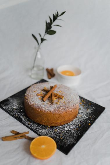 Moroccan spiced orange cake