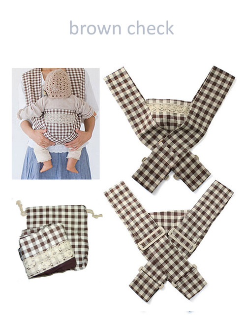 Minizone Baby Carrier - Brown Check -Free Shipping Worldwide