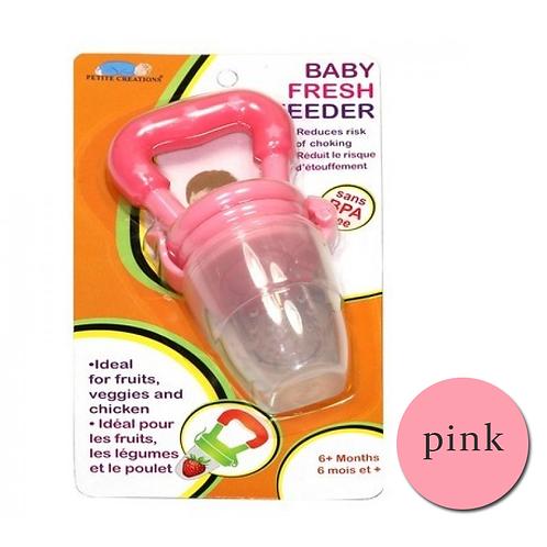 Fresh Feeder Fresh Fruit Nibbler Cum Teether - Pink Free Shipping Worldwide