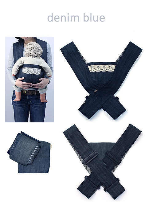 Minizone Baby Carrier - Denim Blue -Free Shipping Worldwide
