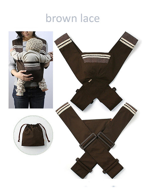 Minizone Baby Carrier - Brown Lace -Free Shipping Worldwide