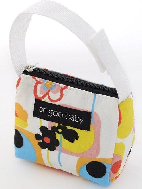 Ah Goo Baby Pacifier Tote - Poppy