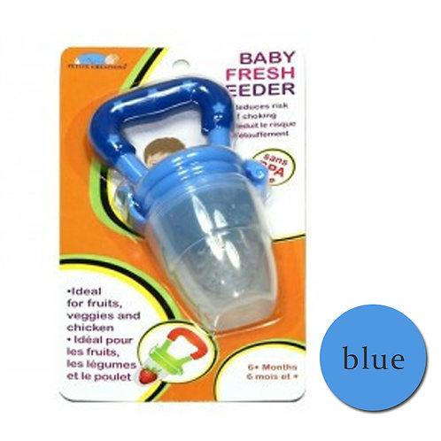 Fresh Feeder Fresh Fruit Nibbler Cum Teether Pacifier Blue Free Shipping