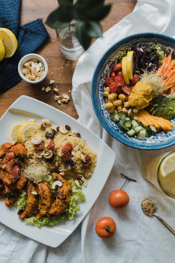 Spiced pumpkin tagine couscous and All Good Things bowl