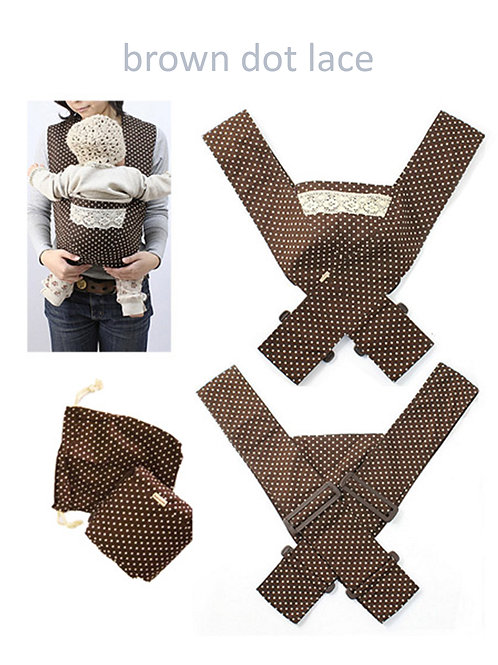 Minizone Baby Carrier - Brown Dot Lace -Free Shipping Worldwide