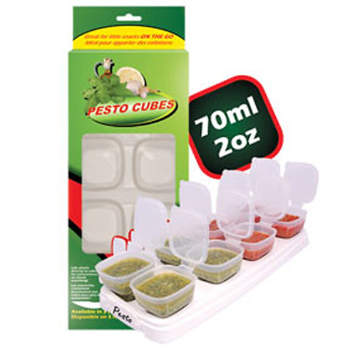Pesto Cubes | BPA Free Food Breast Milk Container | 70ml / 2oz | Free Shipping W