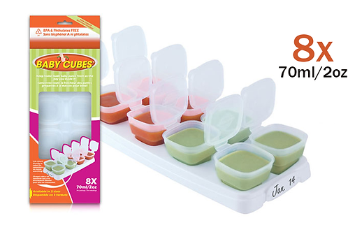 Baby Cubes™ 70ml/2oz  Breast Milk Food Container BPA Free Shipping Worldwide