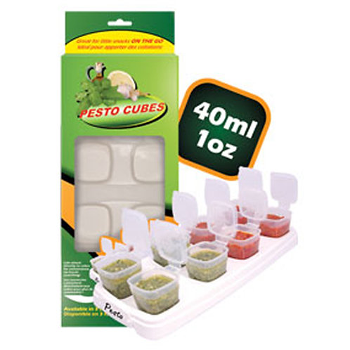 Pesto Cubes BPA Free Food Breast Milk Container | 40ml / 1oz | Free Shipping Wor