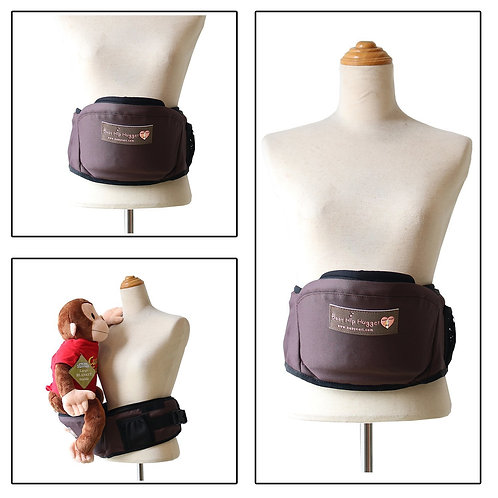 Baby Nari Hip Hugger Infant Hip Seat for Toddler-Brown-Free Shipping Worldwide
