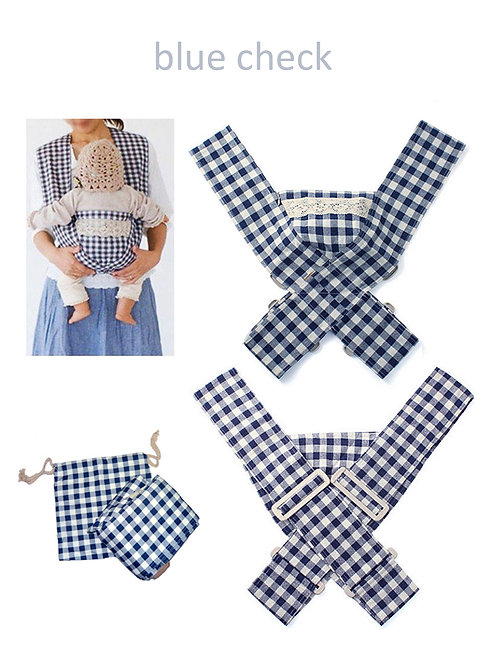 Minizone Baby Carrier - Blue Check -Free Shipping Worldwide
