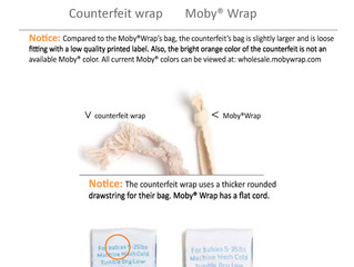 Beware of Fake Moby Wraps!
