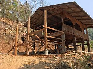 Karen mountain village house under const