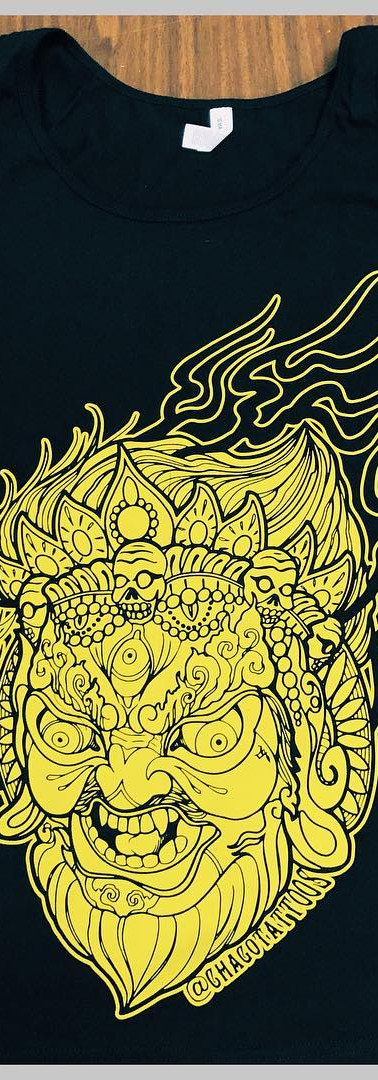 Huge Discharge prints for Chago Garcia Tattoos