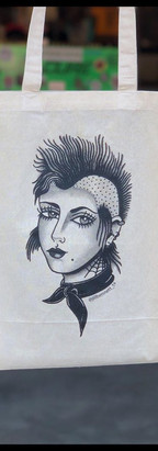 Tote bags for tattoo artist Jill Weems