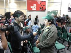 Carlos Andrada con Telesur