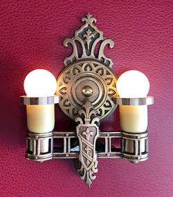 1920's cast bronze sconce