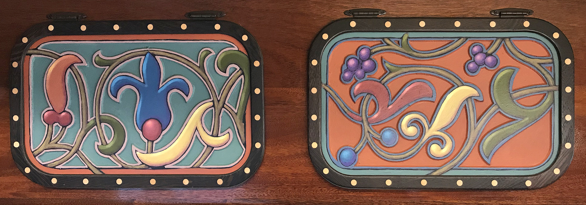 Two top cabinet doors