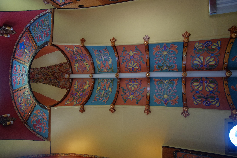 Floor's eye view of ceiling