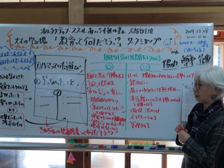 12/8 あいち惟の森広報部主催:第1回オトナの学び場「教育って何?学びを考える」開催終了