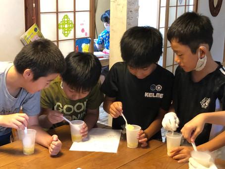 9月8日(火)分野別学習:理科 おいしい、たのしい、ビックリ実験