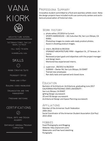 Vana Kiork - Resume