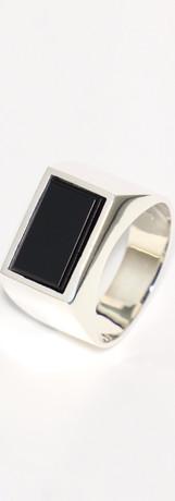onyx / silver (size 19)