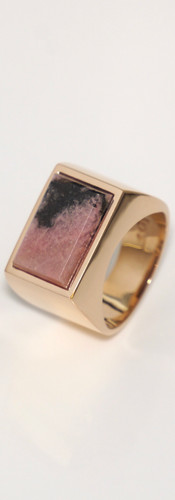 rhodonite / pink gold (size 9)