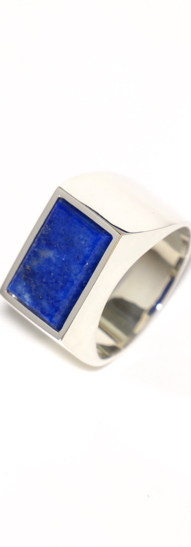 lapis lazuli / silver (size 17)