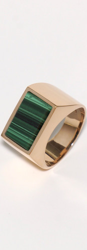 malachite / pink gold (size 15)