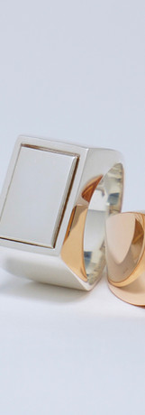 assembler ring  silver / pink gold