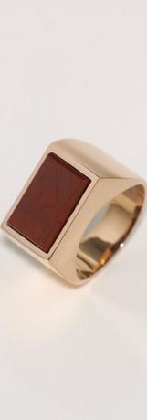 red jasper / pink gold (size 11)