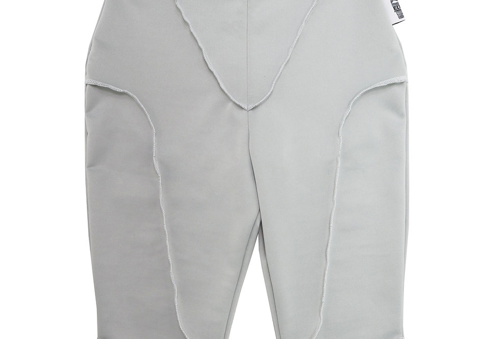 Contrast Seam Shorts in Pebble