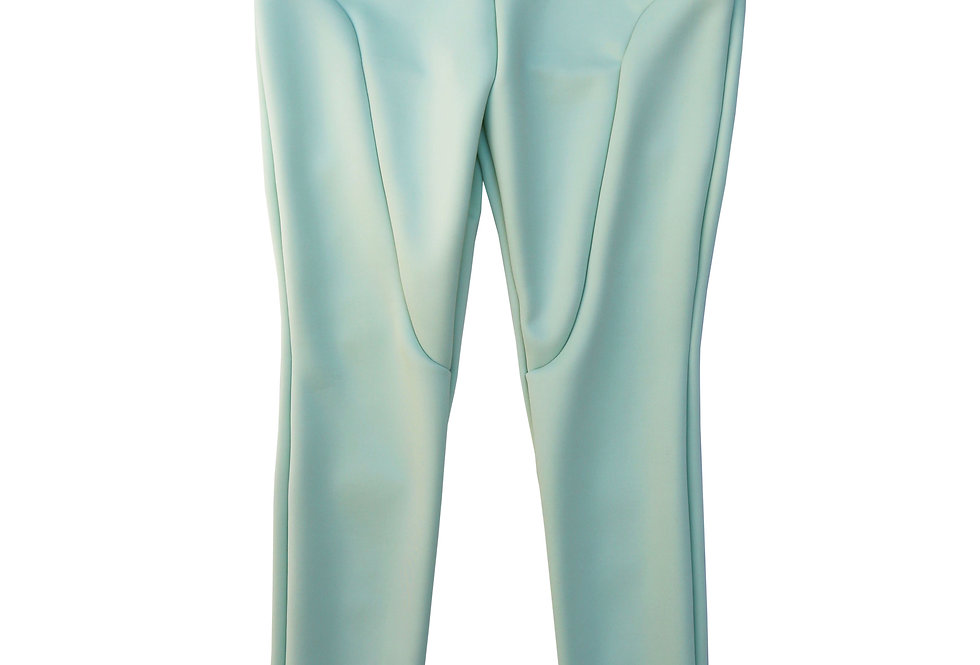 Regular Split Seam Leggings in Mint