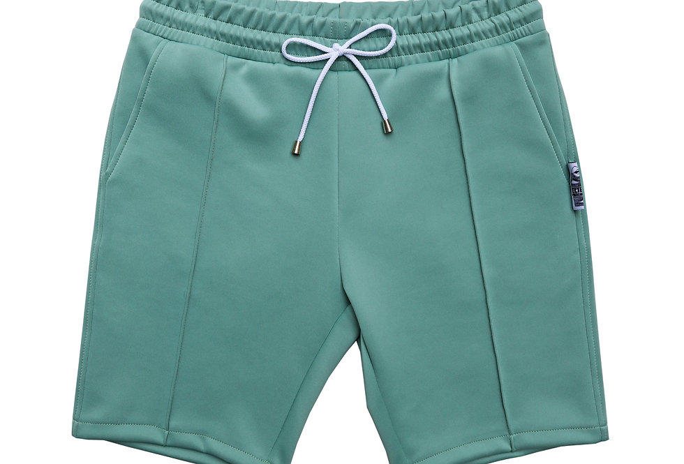 MENS Slim Scuba Shorts in Pistachio