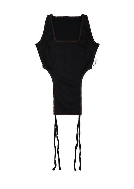 String Vest in Coal