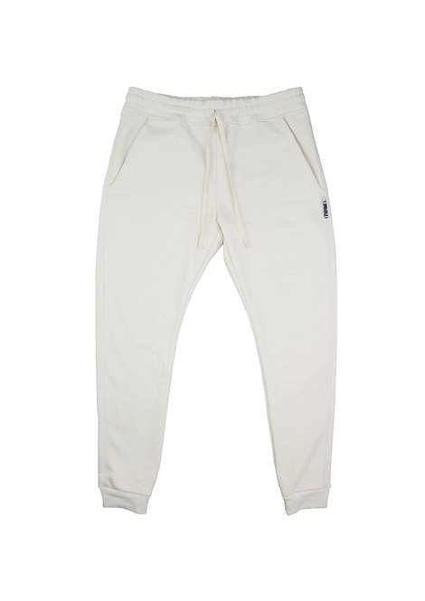 Mens Slim Joggers in Parchment
