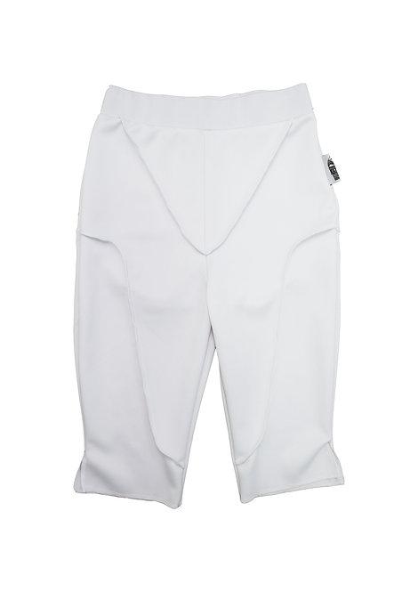 Contrast Seam Shorts in Platinum