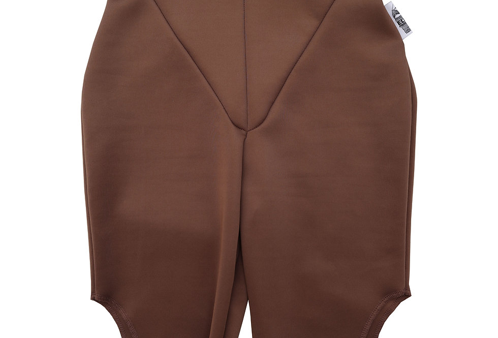 Cut Out Cycling Shorts in Cocoa