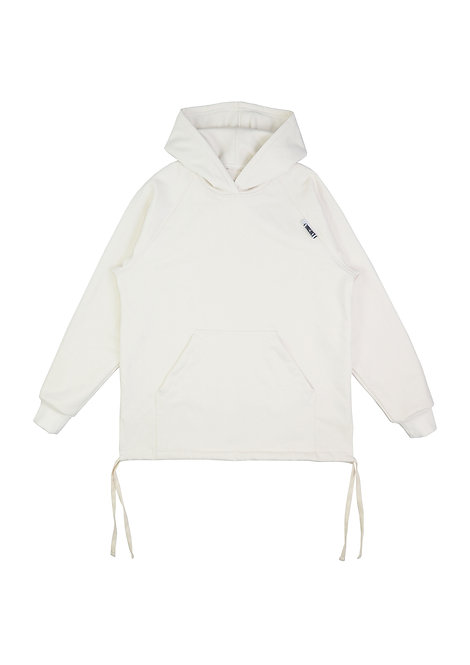 Mens String Hoodie in Parchment