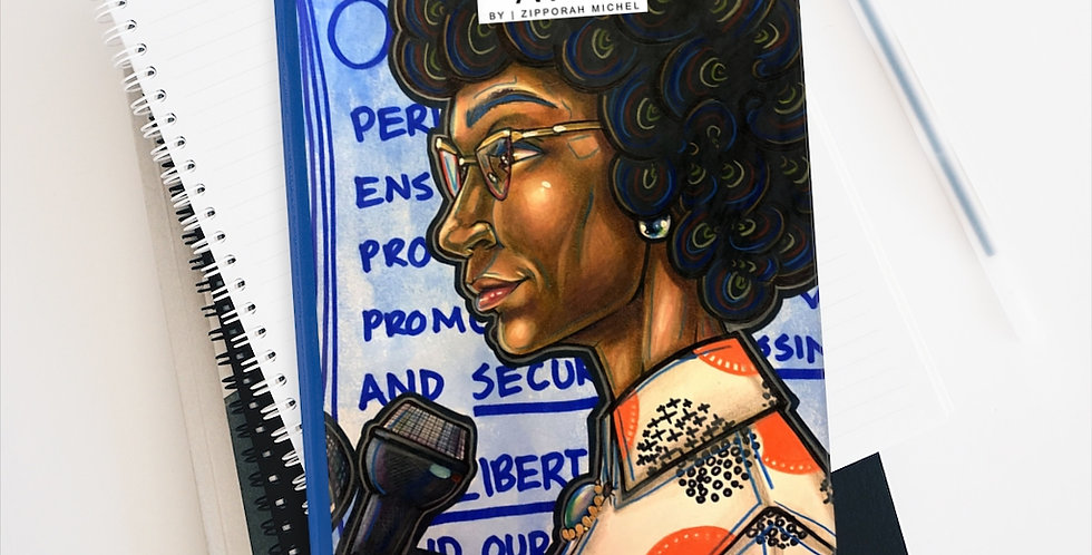 """American Politician, Shirley Anita Chisholm"" Premium Art Journal"