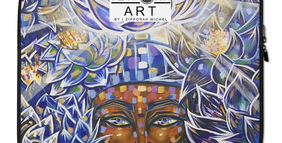 Tzipora Art | Nefertem of the Blue Lotus Laptop Sleeve
